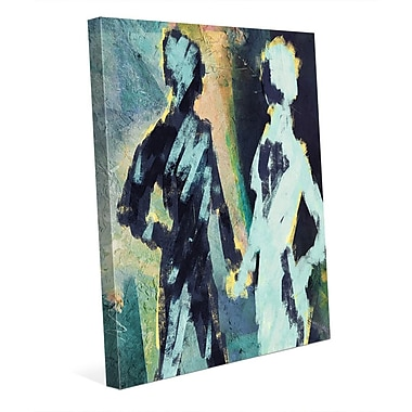 Click Wall Art 'Couple Figures Negative' Painting Print on Wrapped Canvas; 10'' H x 8'' W x 0.75'' D