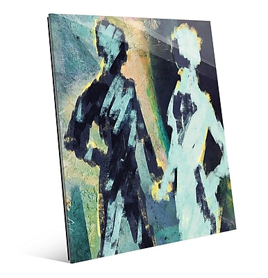 Click Wall Art 'Couple Figures Negative' Painting Print; 24'' H x 20'' W x 1'' D