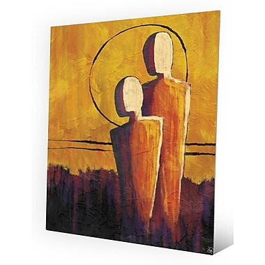 Click Wall Art 'Away From the Orange Sun' Painting Print on Metal; 10'' H x 8'' W x 0.04'' D