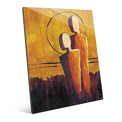 Click Wall Art 'Away From the Orange Sun' Painting Print; 20'' H x 16'' W x 1'' D