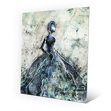 Click Wall Art 'Blue Gown' Painting Print on Metal; 30'' H x 20'' W x 0.04'' D