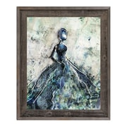 Click Wall Art 'Blue Gown' Framed Painting Print; 33.5'' H x 23.5'' W x 1'' D