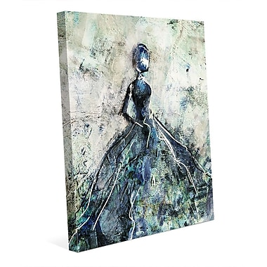 Click Wall Art 'Blue Gown' Painting Print on Wrapped Canvas; 10'' H x 8'' W x 0.75'' D