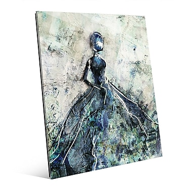 Click Wall Art 'Blue Gown' Painting Print on Glass; 20'' H x 16'' W x 1'' D