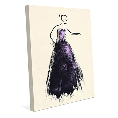 Click Wall Art 'Formal Dress Violet' Painting Print on Wrapped Canvas; 30'' H x 20'' W x 1.5'' D