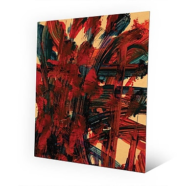 Click Wall Art 'Pour Toi' Painting Print on Metal; 14'' H x 11'' W x 0.04'' D