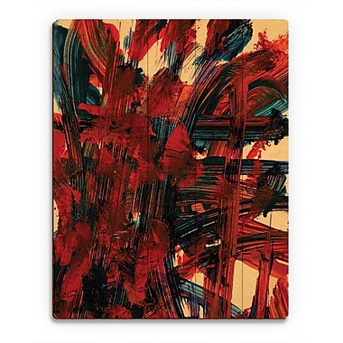 Click Wall Art 'Pour Toi' Painting Print on Wood; 20'' H x 16'' W x 1'' D