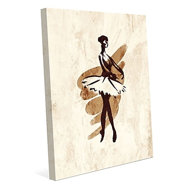 Click Wall Art 'Gestural Ballerina En Pointe' Painting Print on Wrapped Canvas