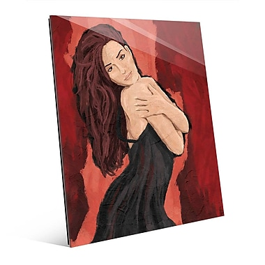 Click Wall Art 'Sultry Red' Painting Print on Glass; 10'' H x 8'' W x 1'' D