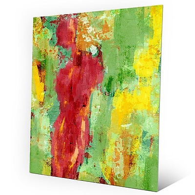 Click Wall Art 'Abstract Figure Spring' Painting Print on Metal; 10'' H x 8'' W x 0.04'' D