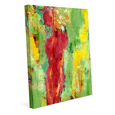 Click Wall Art 'Abstract Figure Spring' Painting Print on Wrapped Canvas; 14'' H x 11'' W x 1.5'' D