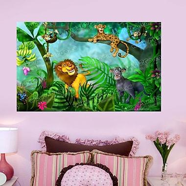 Wallhogs Jungle Cats Wall Mural; 22'' H x 36'' W