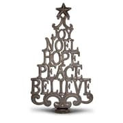 BeyondBorders Christmas Word Tree Sculpture