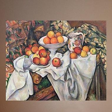 Wallhogs Cezanne Apples and Oranges (19th) Wall Mural; 19'' H x 24'' W