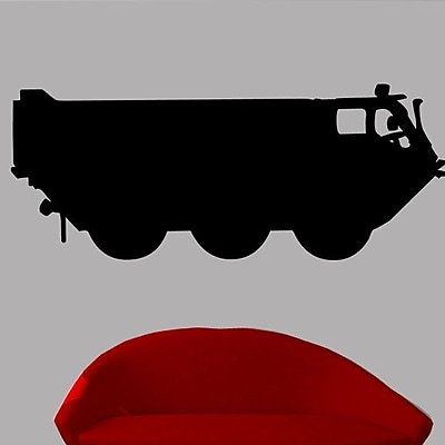 Wallhogs Haynes Military Troop Transport Silhouette Cutout Wall Decal; 29'' H x 72'' W
