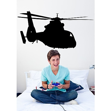 Wallhogs Haynes Silhouette Helicopter IV Cutout Wall Decal; 36'' H x 72'' W