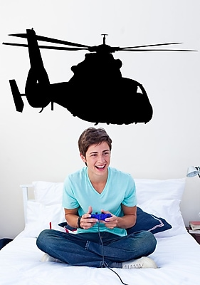 Wallhogs Haynes Silhouette Helicopter IV Cutout Wall Decal; 30'' H x 60'' W