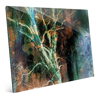 Click Wall Art 'Intense Wither on Azure' Graphic Art on Glass; 11'' H x 14'' W x 1'' D