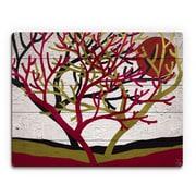 Click Wall Art 'Tree Trio' Graphic Art on Wood; 11'' H x 14'' W x 1'' D