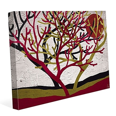 Click Wall Art 'Tree Trio' Graphic Art on Wrapped Canvas; 20'' H x 24'' W x 1.5'' D