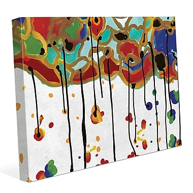 Click Wall Art 'Melting Colorful Trees' Painting Print on Wrapped Canvas; 24'' H x 36'' W x 1.5'' D