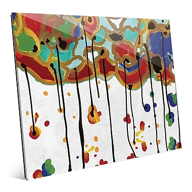Click Wall Art 'Melting Colorful Trees' Painting Print; 16'' H x 20'' W x 1'' D