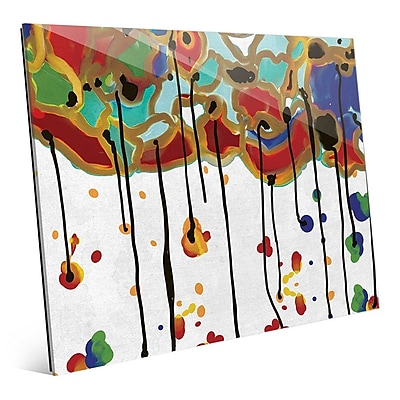 Click Wall Art 'Melting Colorful Trees' Painting Print on Glass; 16'' H x 20'' W x 1'' D