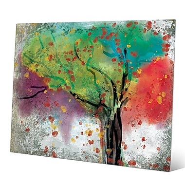 Click Wall Art 'Changing Trees' Painting Print on Metal; 20'' H x 24'' W x 0.04'' D