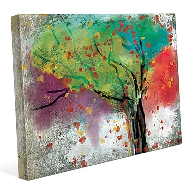 Click Wall Art 'Changing Trees' Painting Print on Wrapped Canvas; 16'' H x 20'' W x 1.5'' D
