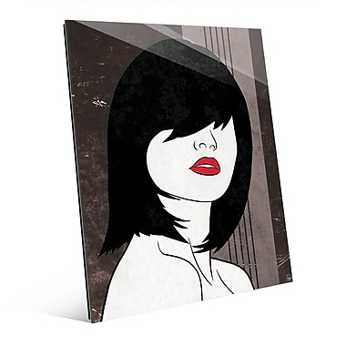 Click Wall Art 'Amor Gray' Graphic Art; 14'' H x 11'' W x 1'' D