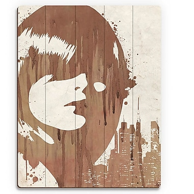 Click Wall Art 'Drippy City Girl Brown' Graphic Art on Wood; 20'' H x 16'' W x 1'' D