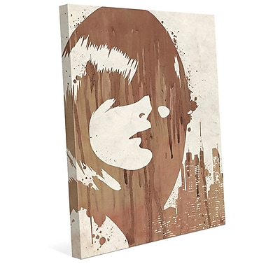 Click Wall Art 'Drippy City Girl Brown' Painting Print on Wrapped Canvas; 10'' H x 8'' W x 0.75'' D