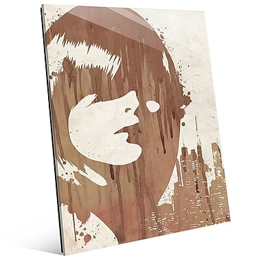 Click Wall Art 'Drippy City Girl Brown' Painting Print; 14'' ...