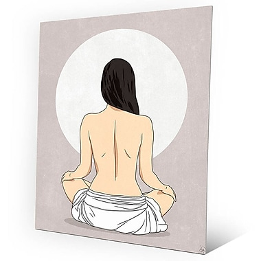 Click Wall Art 'Sun Meditation Gray' Graphic Art on Metal; 24'' H x 20'' W x 0.04'' D