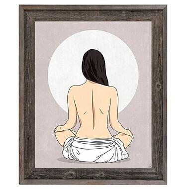 Click Wall Art 'Sun Meditation Gray' Framed Graphic Art ; 27.5'' H x 23.5'' W x 1'' D