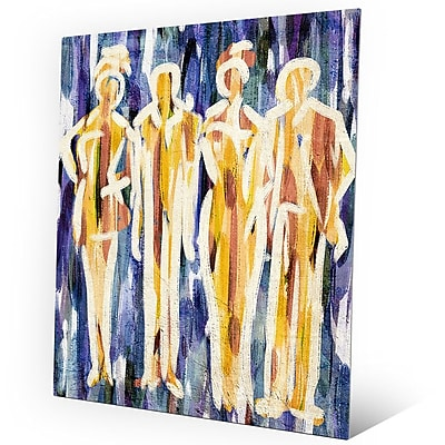 Click Wall Art 'Abstract Group Indigo' Painting Print on Metal; 20'' H x 16'' W x 0.04'' D