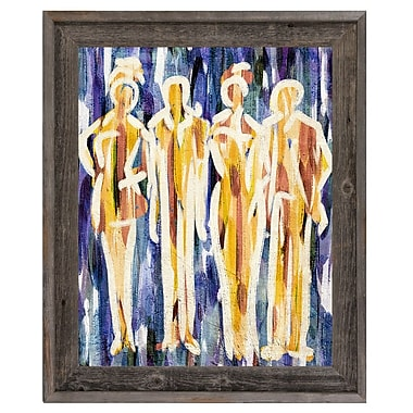 Click Wall Art 'Abstract Group Indigo' Framed Painting Print; 23.5'' H x 19.5'' W x 1'' D