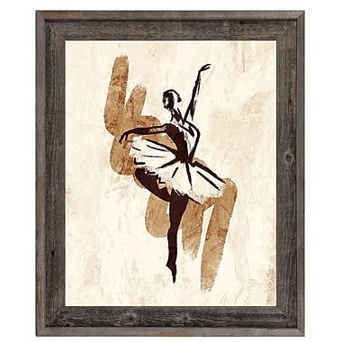 Click Wall Art 'Gestural Ballerina Brown' Framed Painting Print; 33.5'' H x 23.5'' W x 1'' D