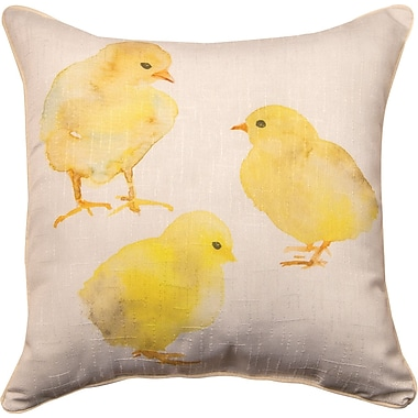 Manual Woodworkers & Weavers Chick and Burlap - Dye Throw Pillow