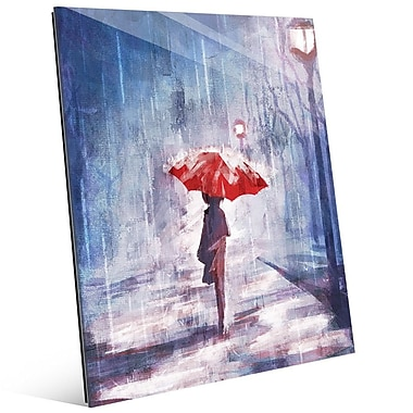 Click Wall Art 'A Rainy Walk' Painting Print; 24'' H x 20'' W x 1'' D