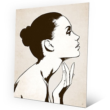 Click Wall Art 'Profile Sepia' Graphic Art on Metal; 24'' H x 20'' W x 0.04'' D