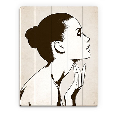 Click Wall Art 'Profile Sepia' Graphic Art on Wood; 14'' H x 11'' W x 1'' D