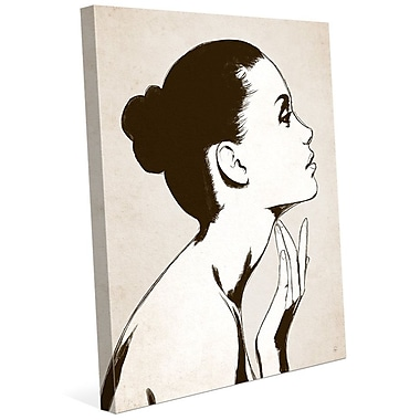 Click Wall Art 'Profile Sepia' Graphic Art on Wrapped Canvas; 10'' H x 8'' W x 0.75'' D