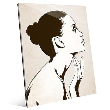 Click Wall Art 'Profile Sepia' Graphic Art; 24'' H x 20'' W x 1'' D