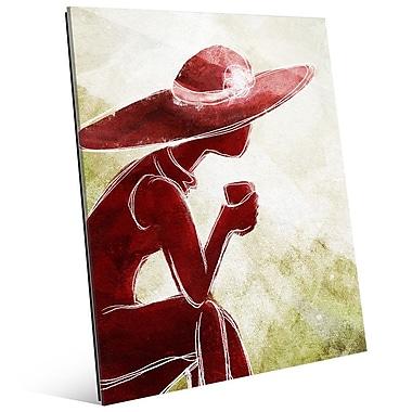 Click Wall Art 'Coffee Brake Red' Painting Print; 14'' H x 11'' W x 1'' D