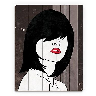 Click Wall Art 'Amor Gray' Graphic Art on Wood; 24'' H x 20'' W x 1'' D