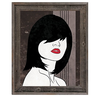 Click Wall Art 'Amor Gray' Framed Graphic Art ; 17.5'' H x 14.5'' W x 1'' D