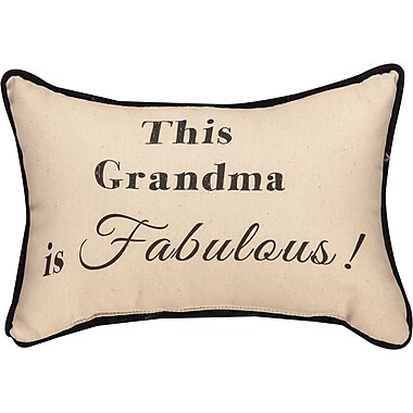 Manual Woodworkers & Weavers This Grandma is Fabulous Word Cotton Lumbar Pillow