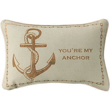 Manual Woodworkers & Weavers You're My Anchor Cotton Lumbar Pillow