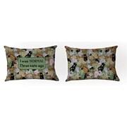 Manual Woodworkers & Weavers Camo Cat Lumbar Pillow by